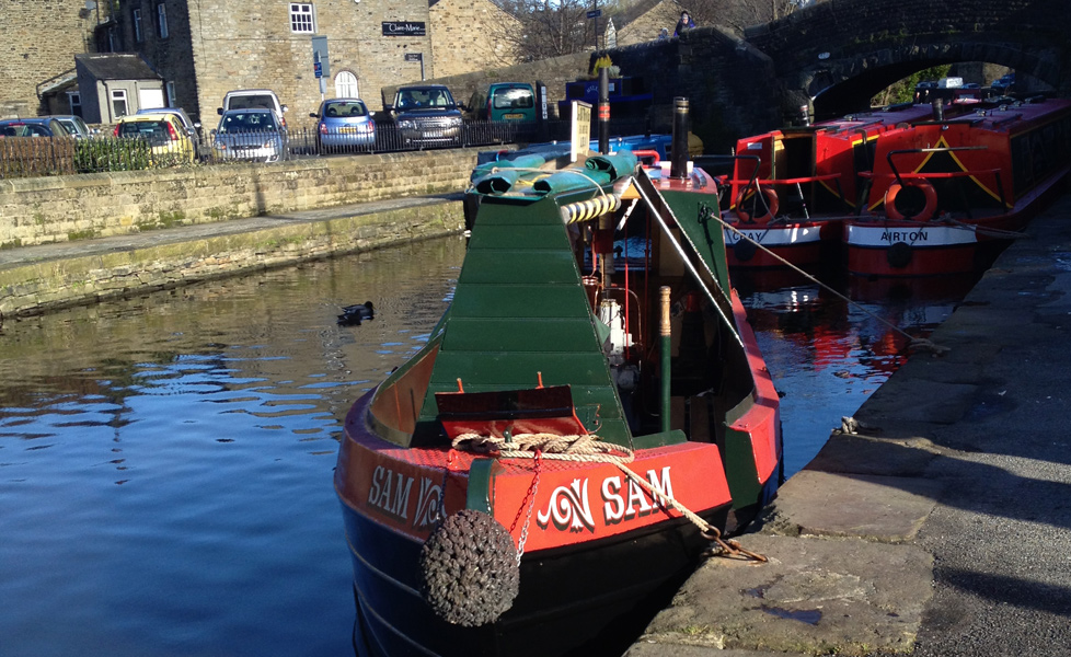 Sam Moored in skipton with Airton & Cray