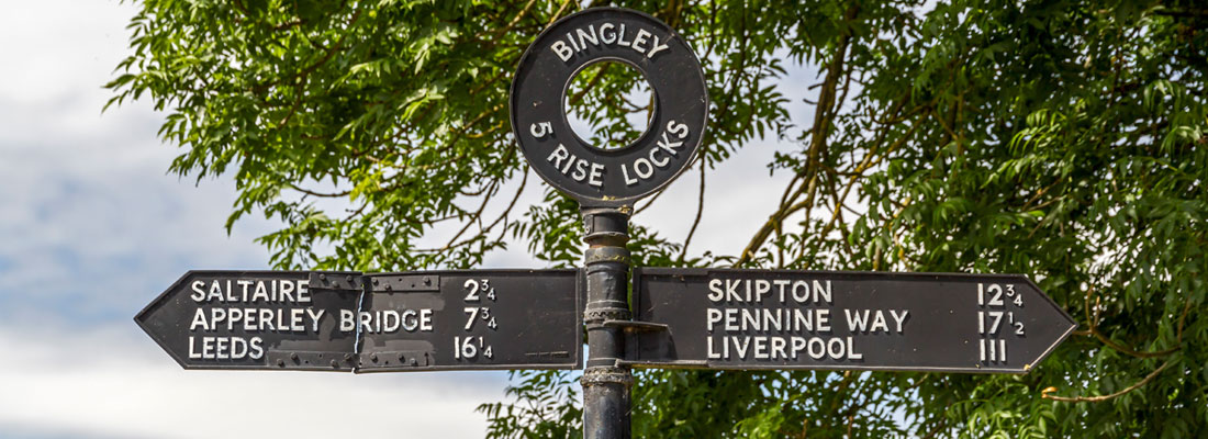 Bingley Five Rise Locks on the Leeds & Liverpool Canal