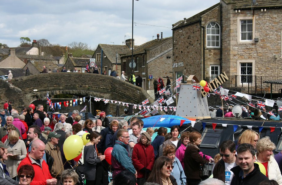 The Skipton Waterways Festival at the Leeds Liverpool Canal Basin in Skipton